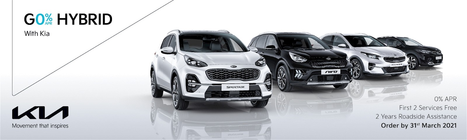 0% APR, 2 free services and 2 years RAC with Kia