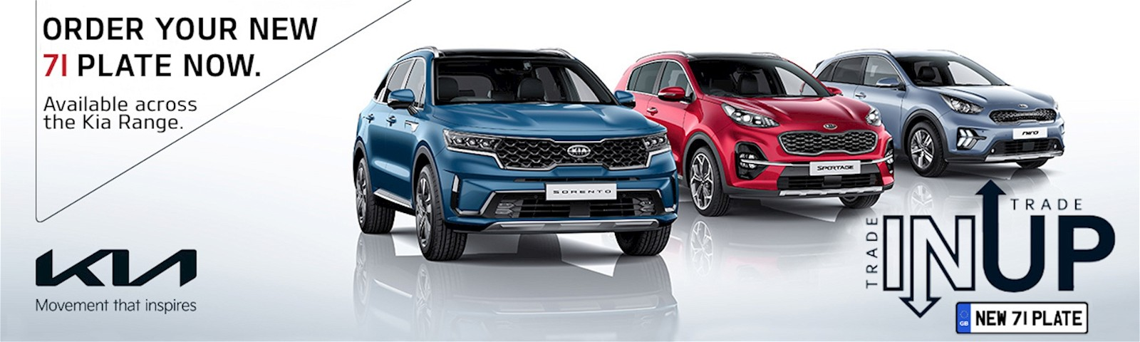 order your 71 plate Kia