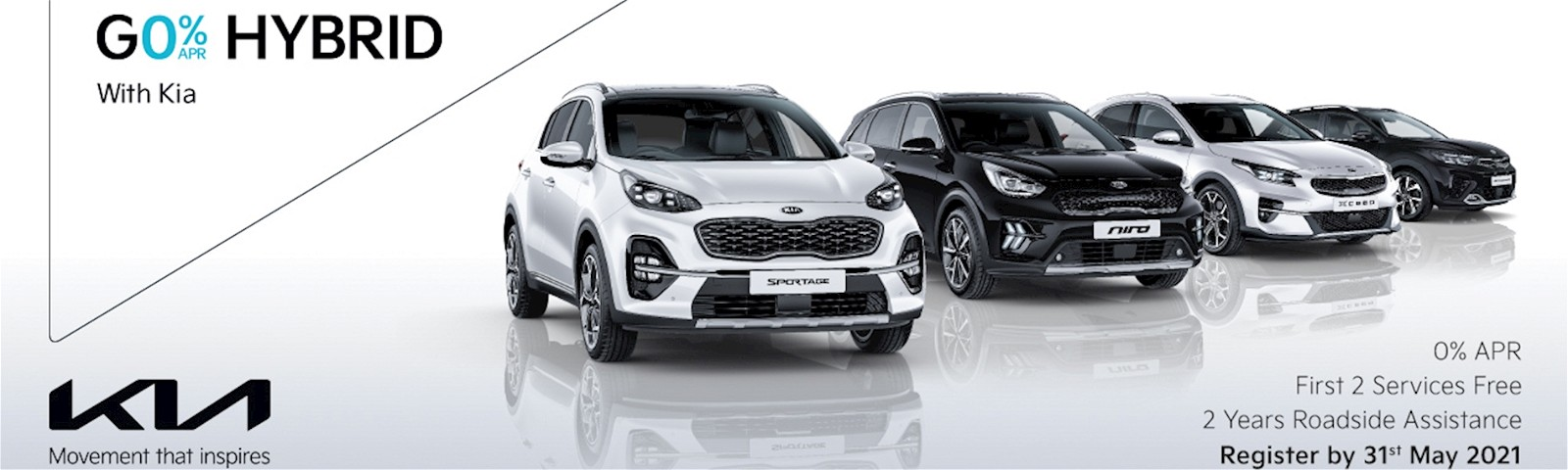 0% APR, 2 free services and 2 years RAC with Stockton Kia