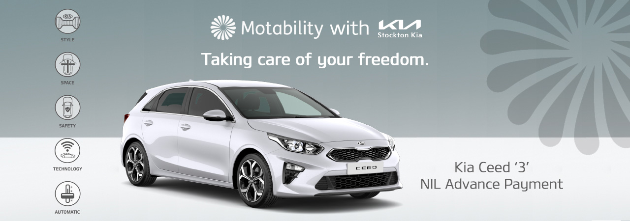 the kia ceed on motability with nil advance payment at stockton kia