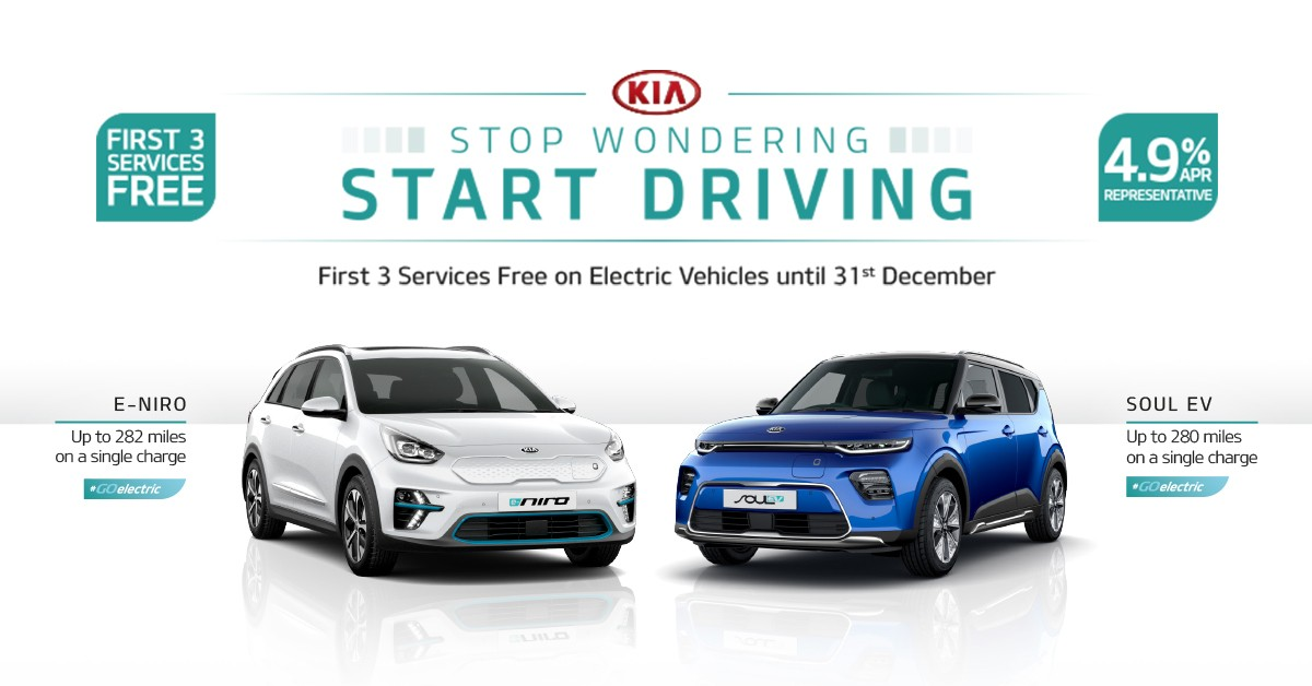 FIRST 3 SERVICES FREE ON EV'S WITH 4.9% APR REPRESENTATIVE