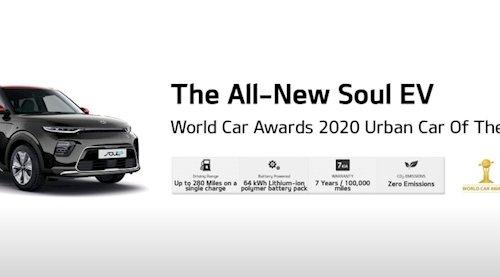Kia Soul Ev wins Urban Car of The Year 2020