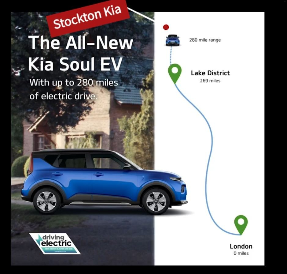 All-electric Kia Soul EV Stockton Kia to London trip