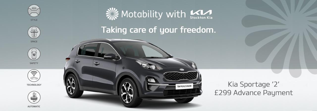 Kia Sportage on motability with 199 advance payment
