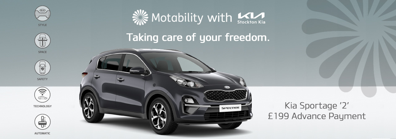Kia Sportage on motability with 199 advance payment