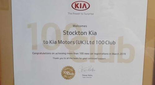 Stockton Kia Claims Another Kia 100 Club Award!