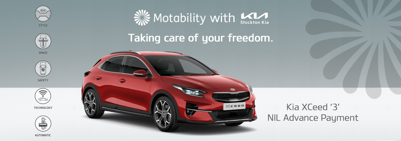 Kia xceed on motability with nil advance payment at stockton kia